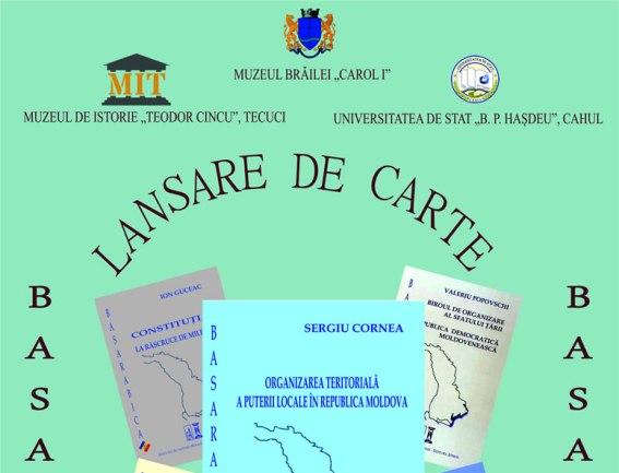 Lansarea seriei de carti Basarabica